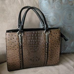 Handbags - Vegan Ostrich Skin Handbag Designer Inspired